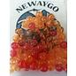 NF&T Pro Pack Beads Irridecent Orange/Red Base 8mm 60