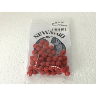 NF&T Pro Pack Beads Maroon UV 8mm 60