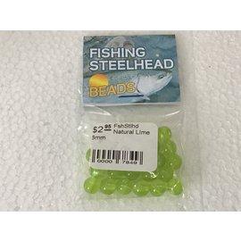 Fishing steelhead Steelhead Beads Natural LIme 8mm