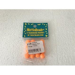 Troutbeads.com Mottled Beads Sun Orange 10mm