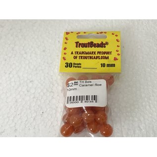 Troutbeads.com Trout Beads Brand Caramel Roe 10mm