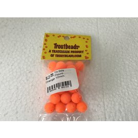 Troutbeads.com Trout Beads Brand Flouro Orange 10mm