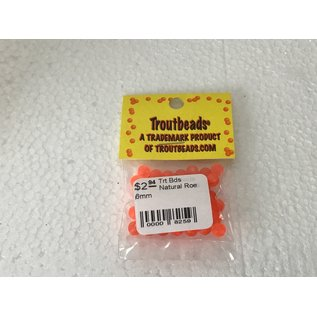 Troutbeads.com Trout Beads Brand Natural Roe 6mm