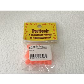 Troutbeads.com Trout Beads Brand Natural Roe 7mm