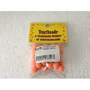 Troutbeads.com Trout Beads Brand Dark Peach 8mm