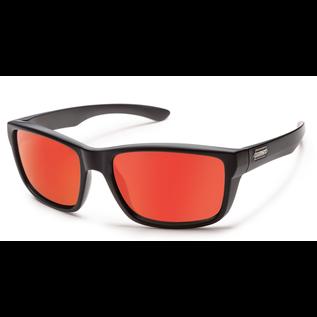 SunCloud MAYOR MATTE BLACK POLARIZED RED MIRROR