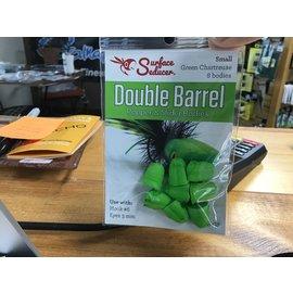 Hareline Small Double Barrel Popper Bodies Green Chart