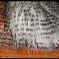 Hareline Barred Pseudo Hair White #377