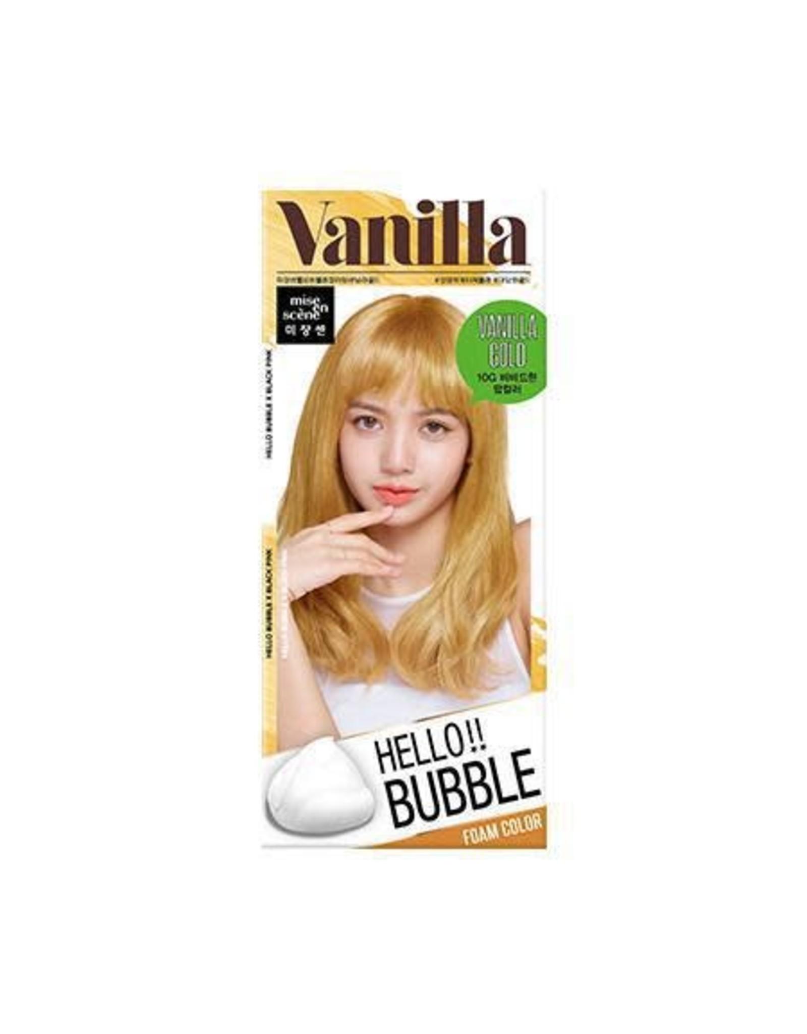 Mise En Scene Hello Bubble Hair Foam Color 10G Vanilla Gold
