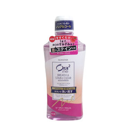 Sunstar Sunstar Ora2 Breath & Stain Clear Mouthwash Floral - Peach Leaf 460ml