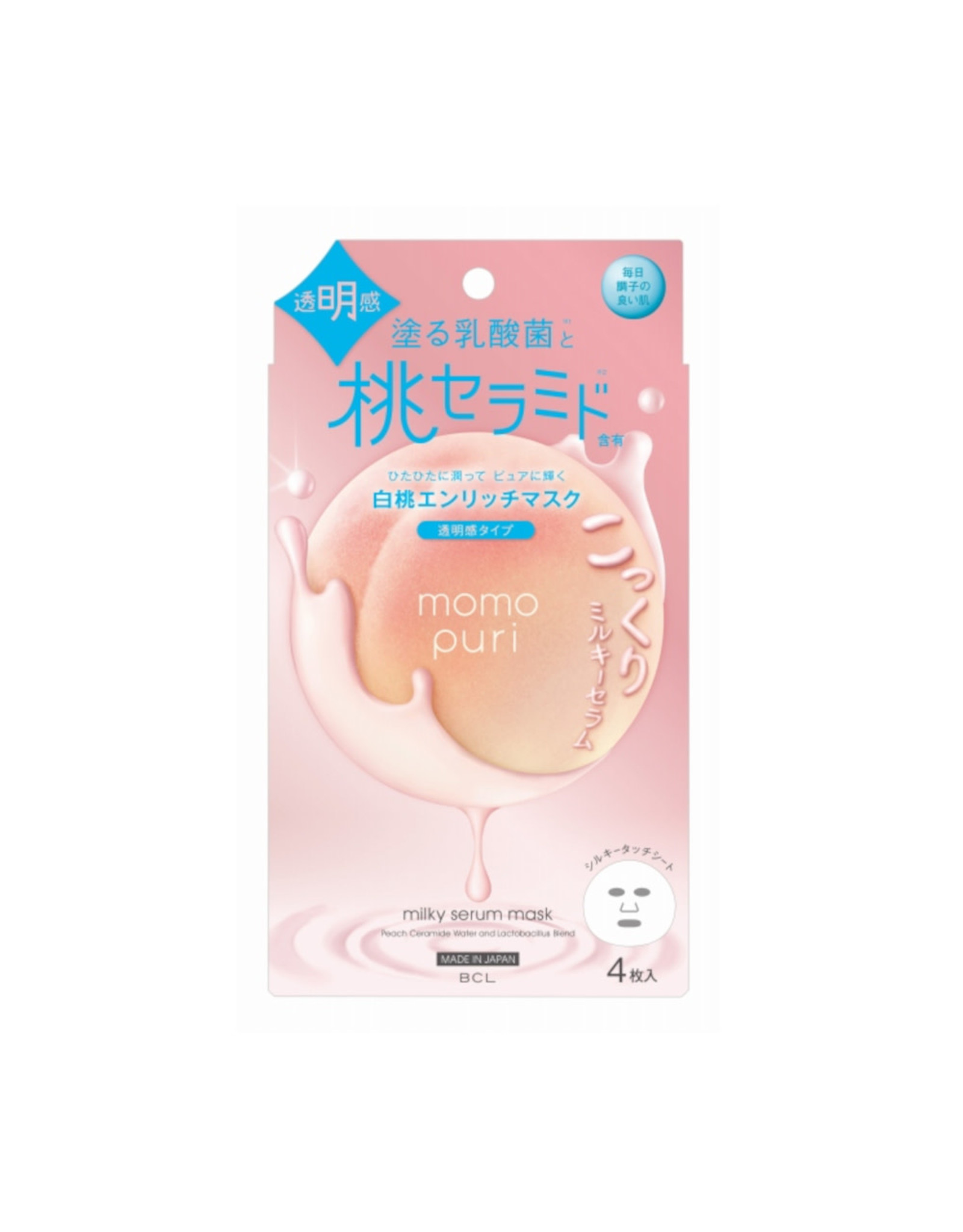 BCL BCL Momo Puri Milky Serum Mask Enrich Clear