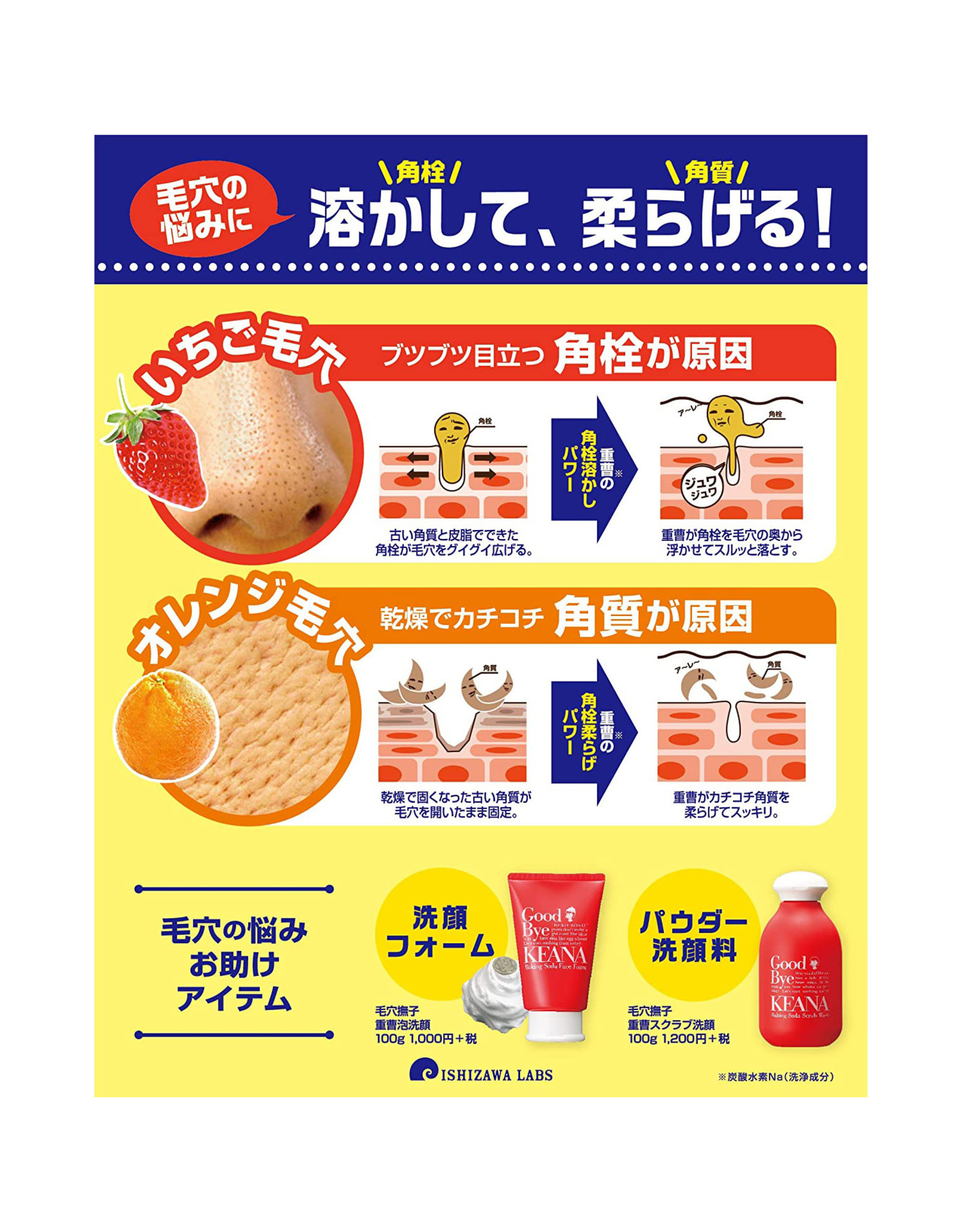 Ishizawa Lab Ishizawa  Keana Nadeshiko Baking Soda Face Foam