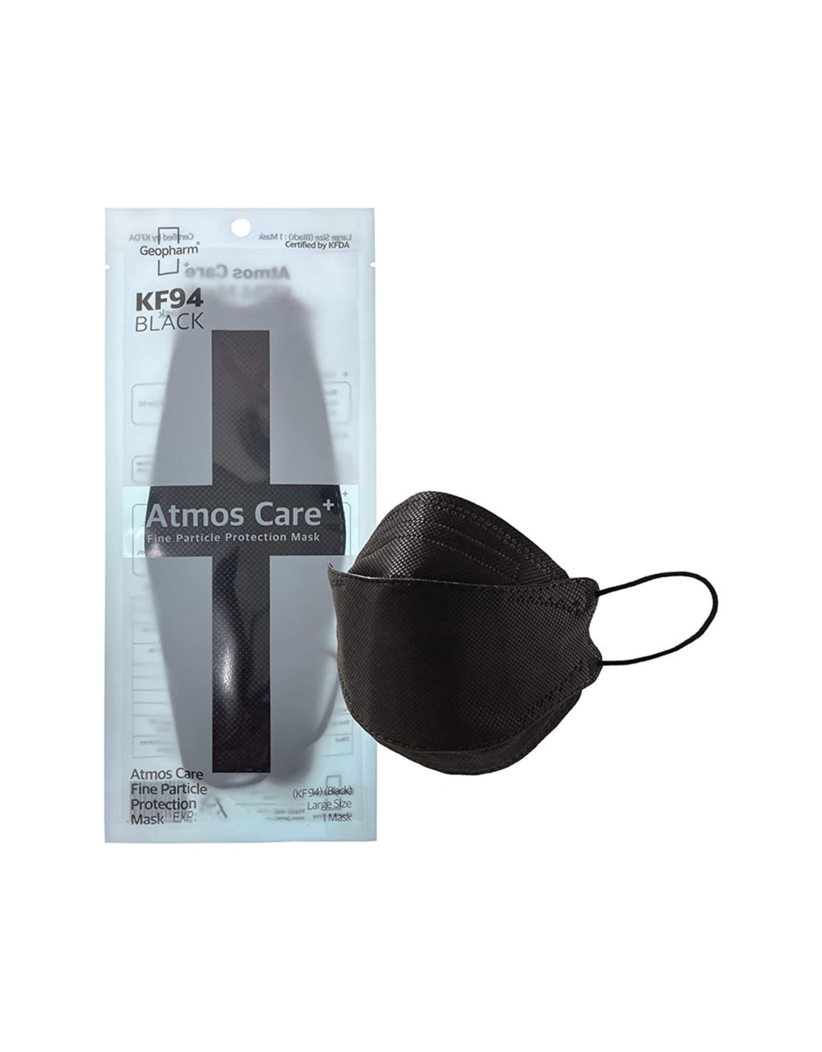 Geopharm Atmos Care+ KF94 Protection Black Mask 1pc