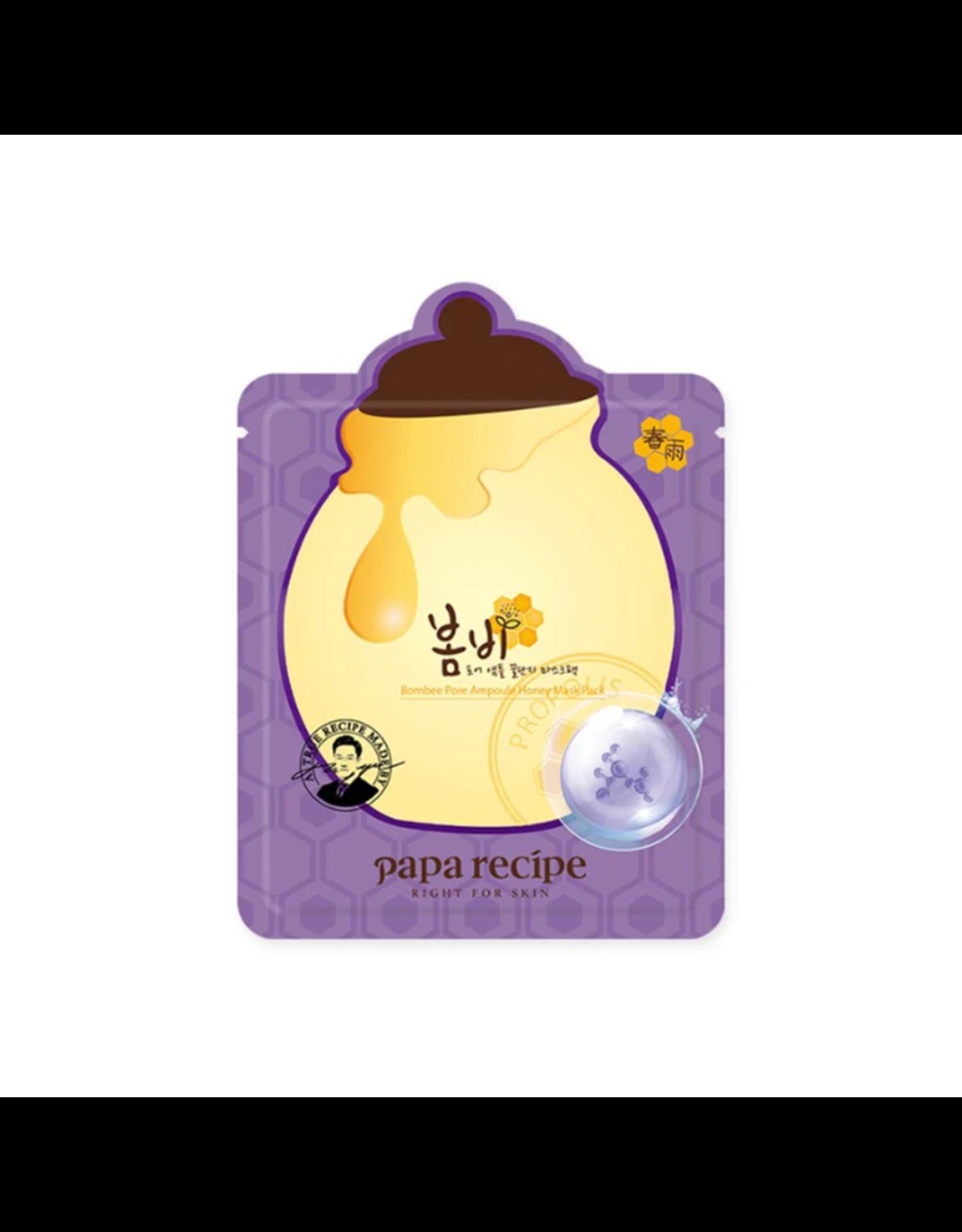 JM Solution PAPA Recipe Pore Ampoule Honey Mask Purple 1 Sheet
