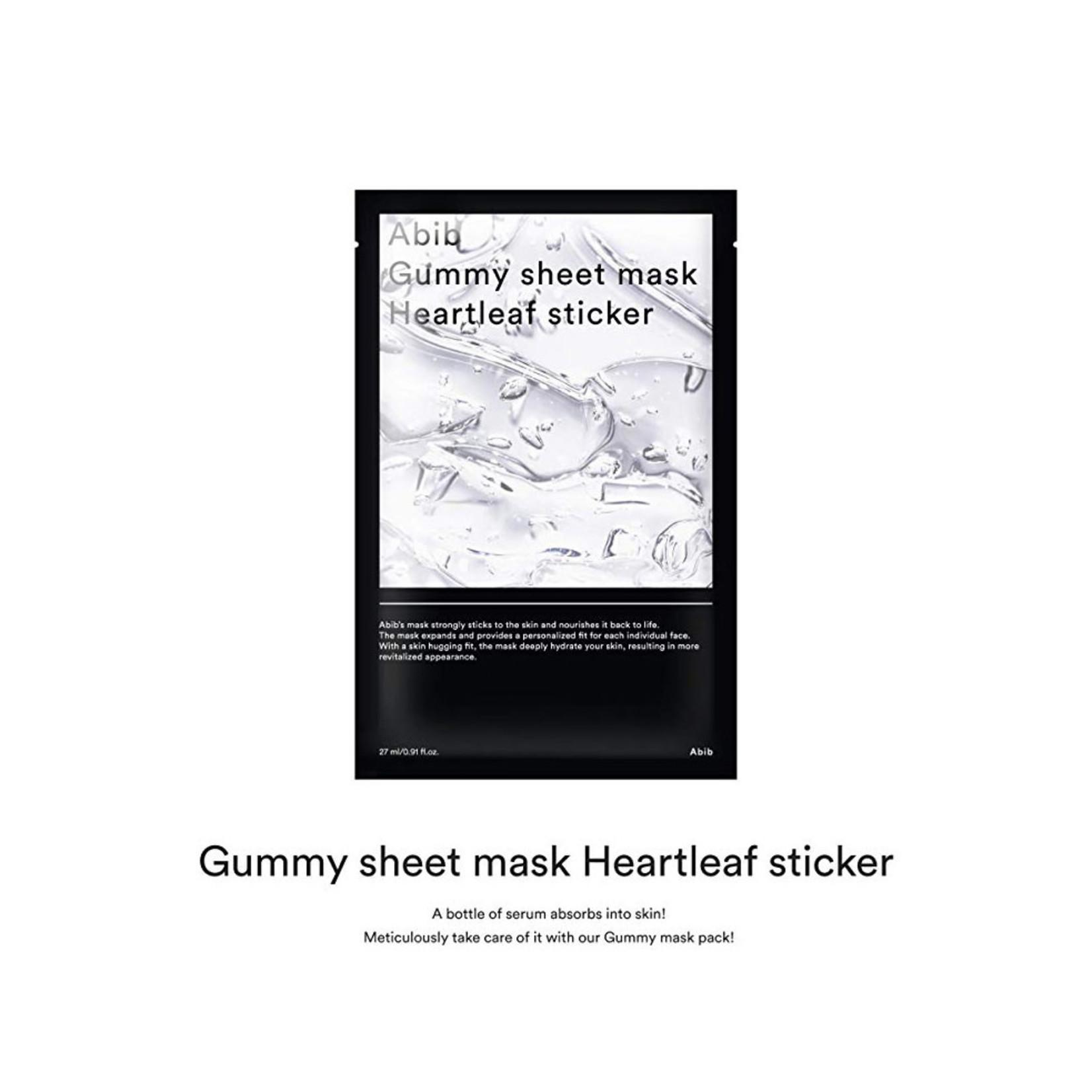 Abib Abib Gummy Sheet Mask - Heartleaf Pc