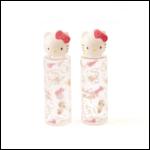 Skater Skater Hello Kitty Portable Cotton Swab Case and Bottle