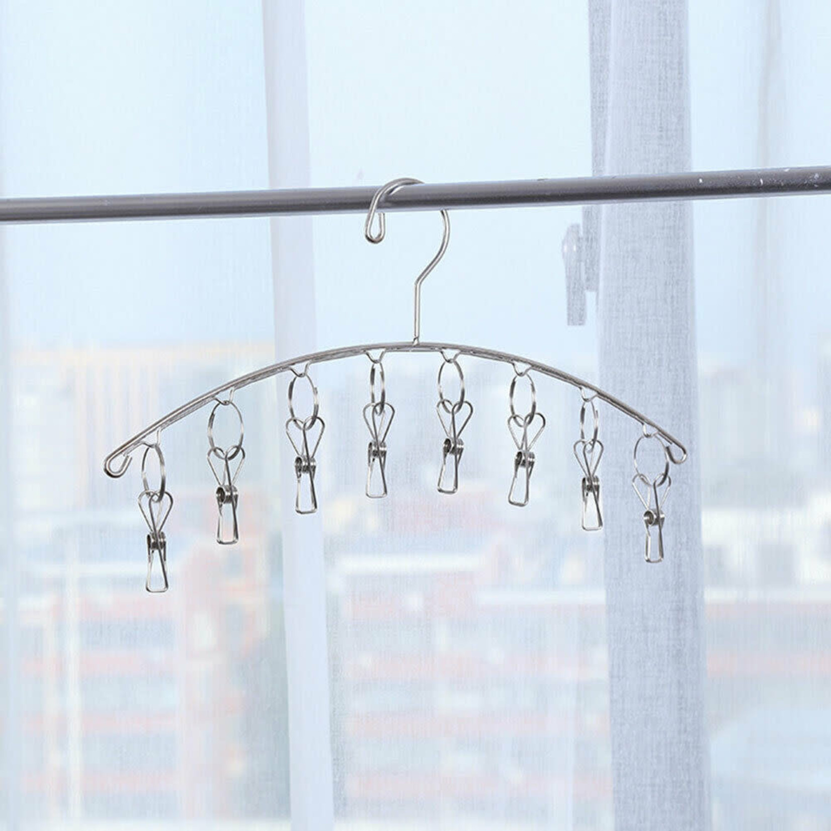 Eco Revolution Stainless Steel Sock Hanger 8 Pegs