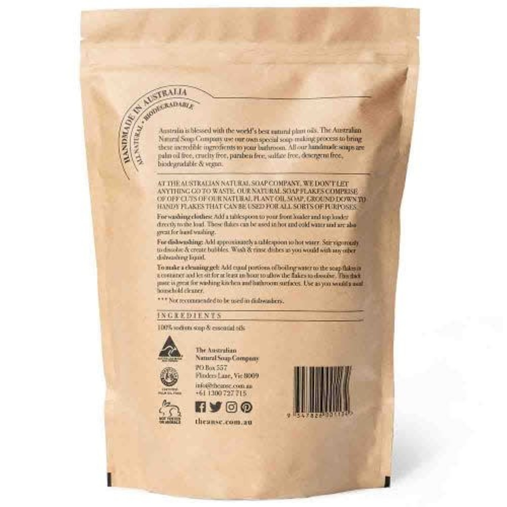 The Australian Natural Soap Company The Australian Natural Soap Company Natural Soap Flakes 300g