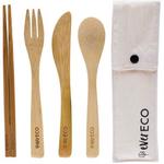 Ever Eco Ever Eco Bamboo Cutlery with Chopsticks