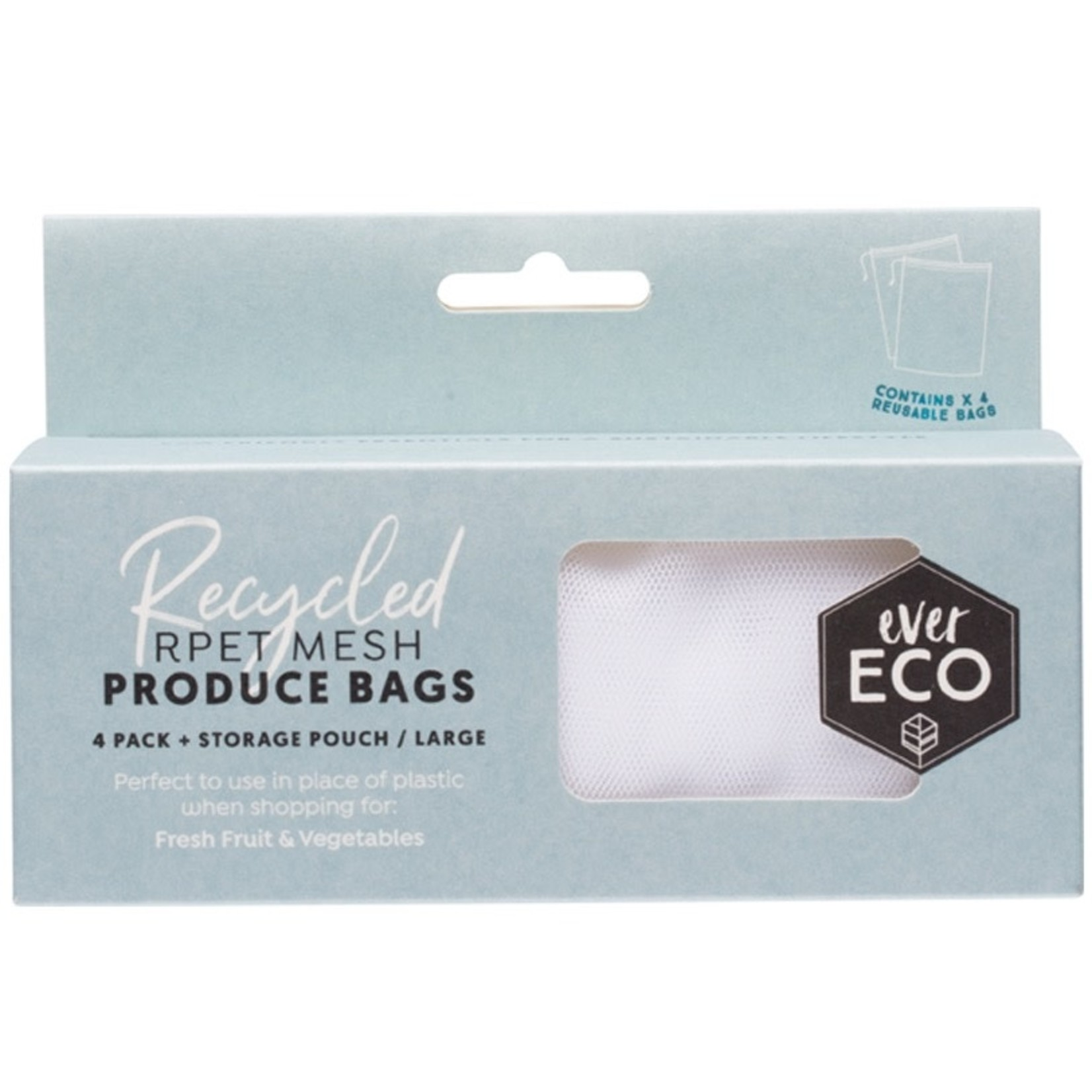 Ever Eco Ever Eco Produce Bags 4pk Recycled Polyester Mesh