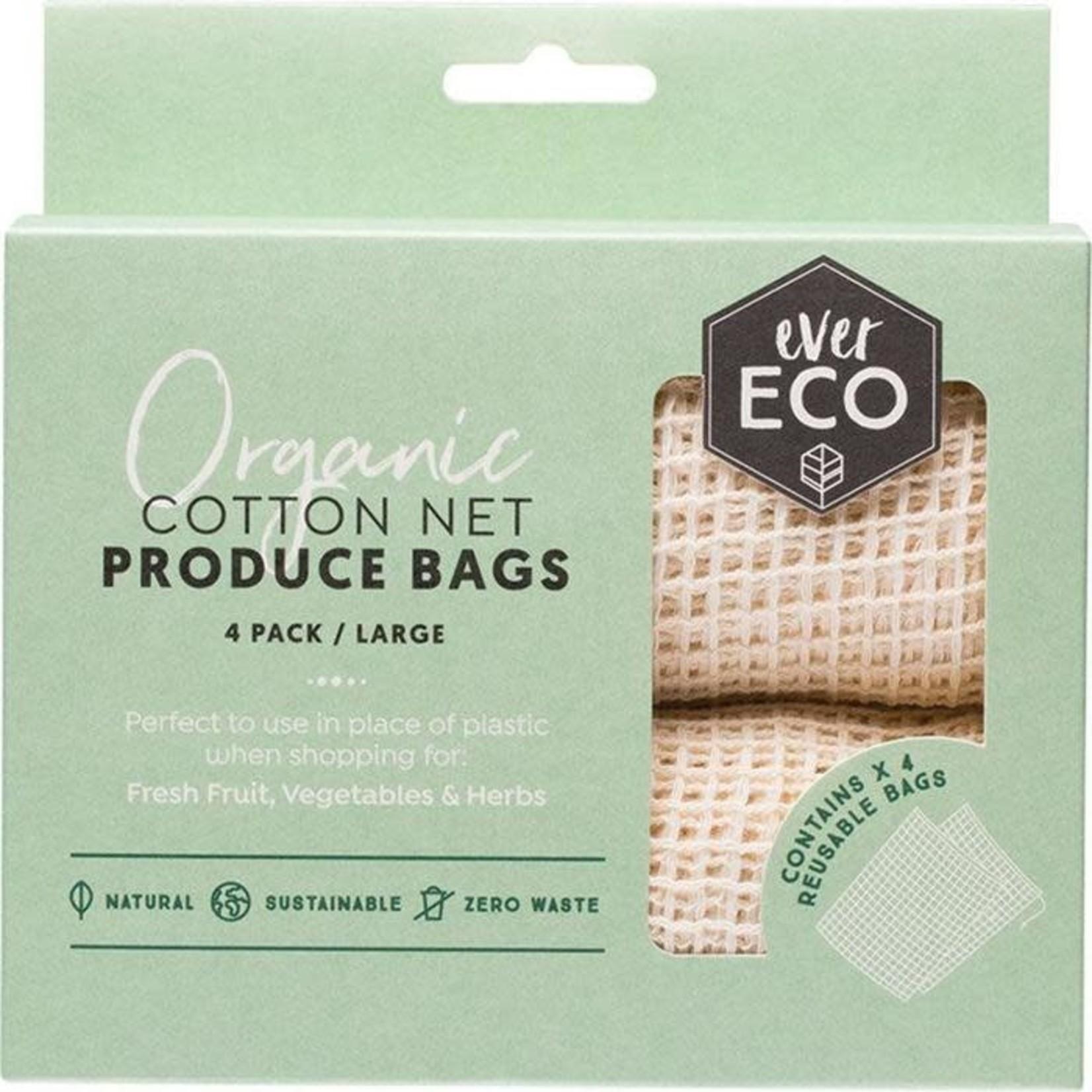 Ever Eco Ever Eco Produce Bag Organic Cotton Net 4pk