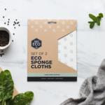 Ever Eco Ever Eco Eco Sponge Cloth - Scandi Leaves 2pk