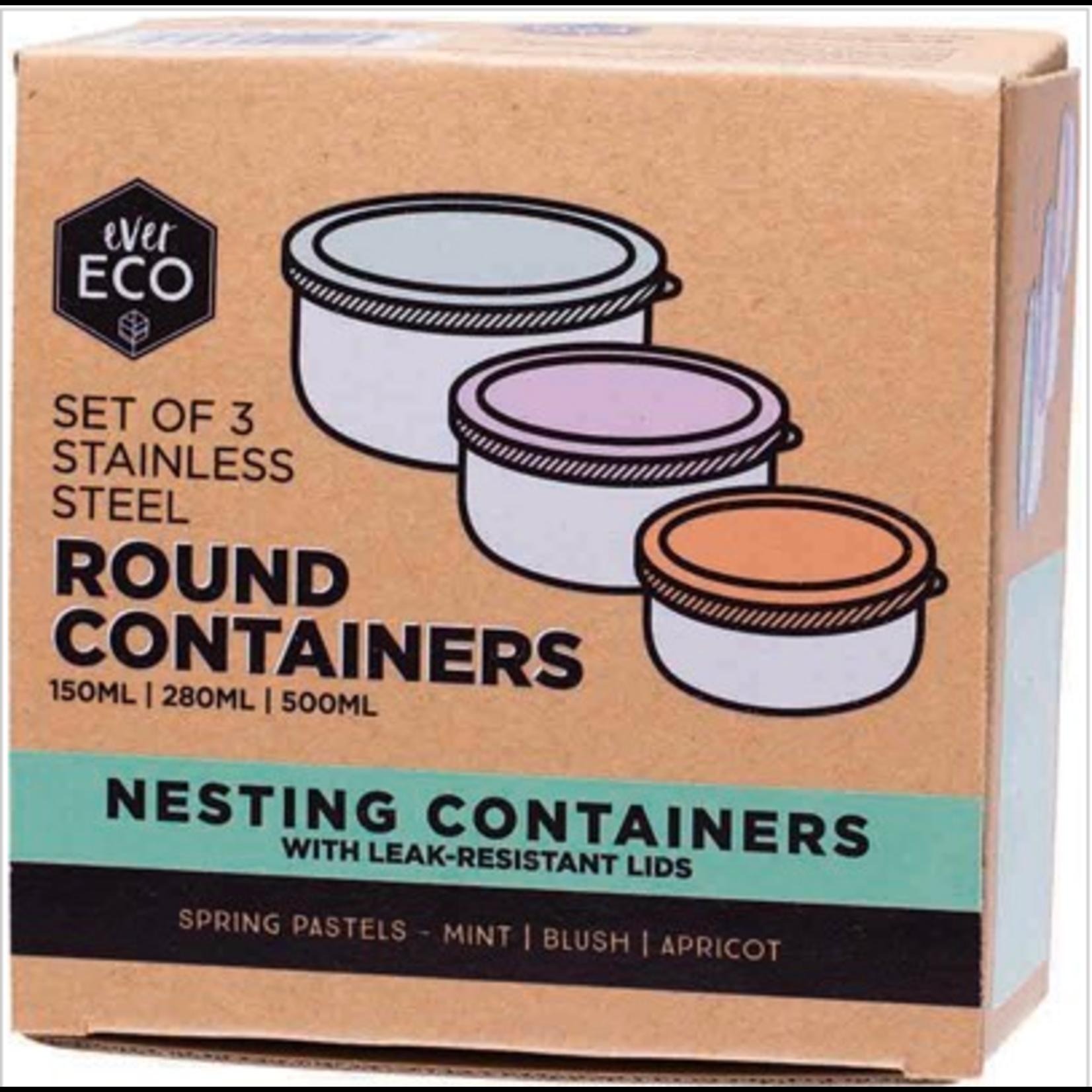 Ever Eco Ever Eco Round Containers 3pk - Spring