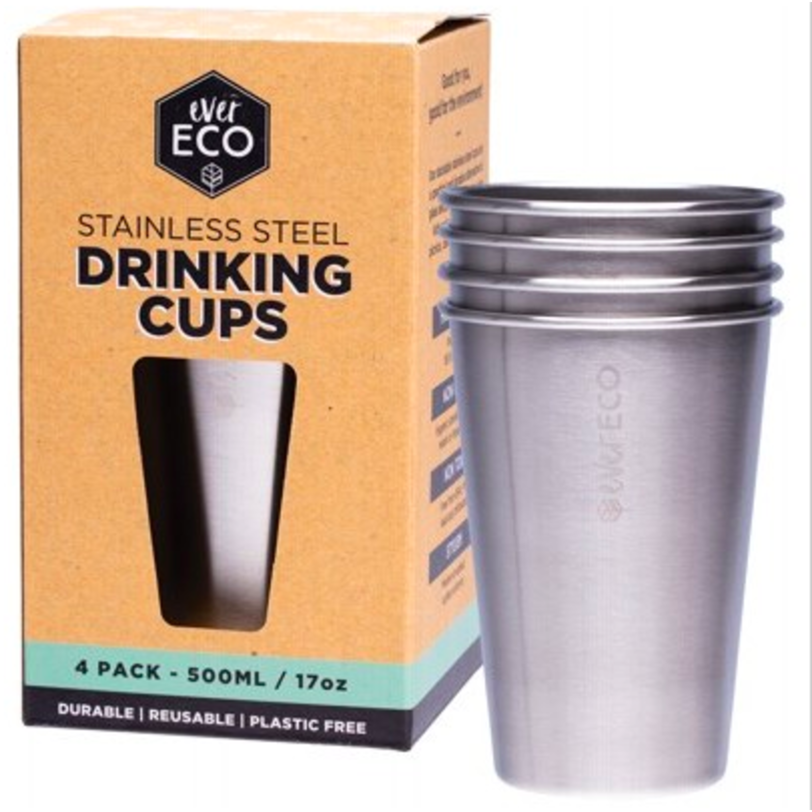 Ever Eco Ever Eco S/steel 4pk 500ml drinking Cup