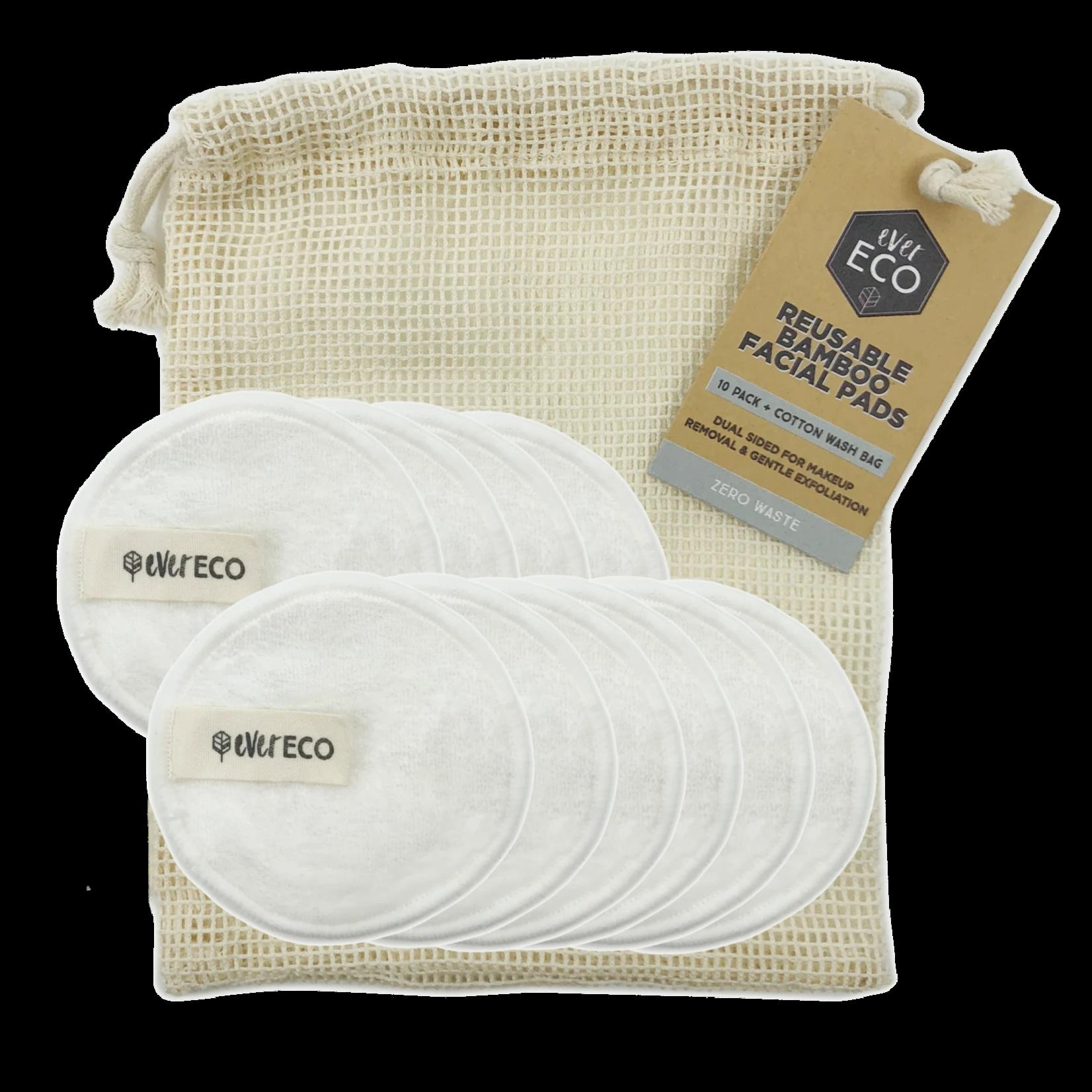 Ever Eco Ever Eco Reusable Bamboo Facial Pads White