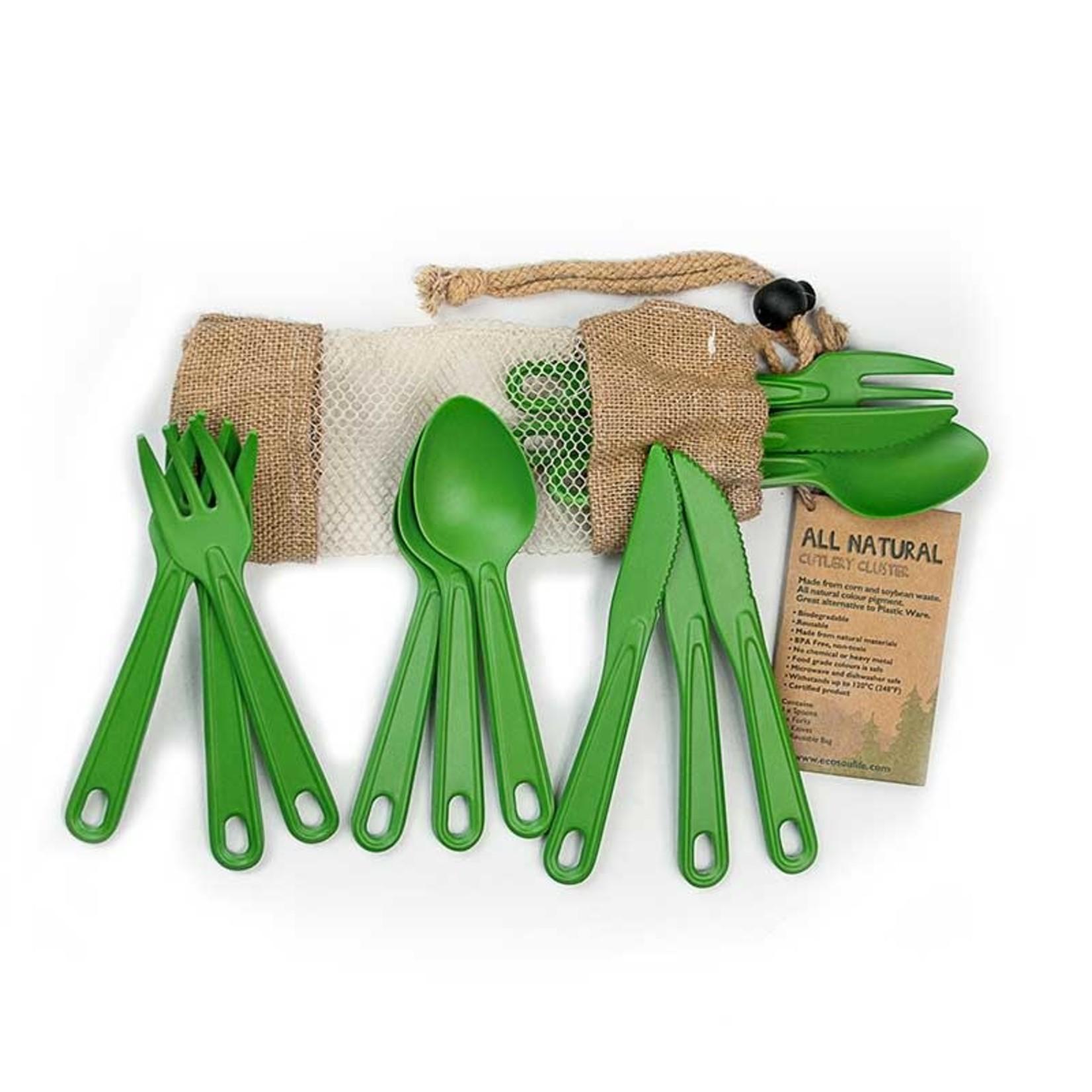 EcoSoulife EcoSoulife 12pcs Bamboo Cutlery set