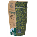 EcoSoulife EcoSoulife Biodegradable 4 Sippers Paisley