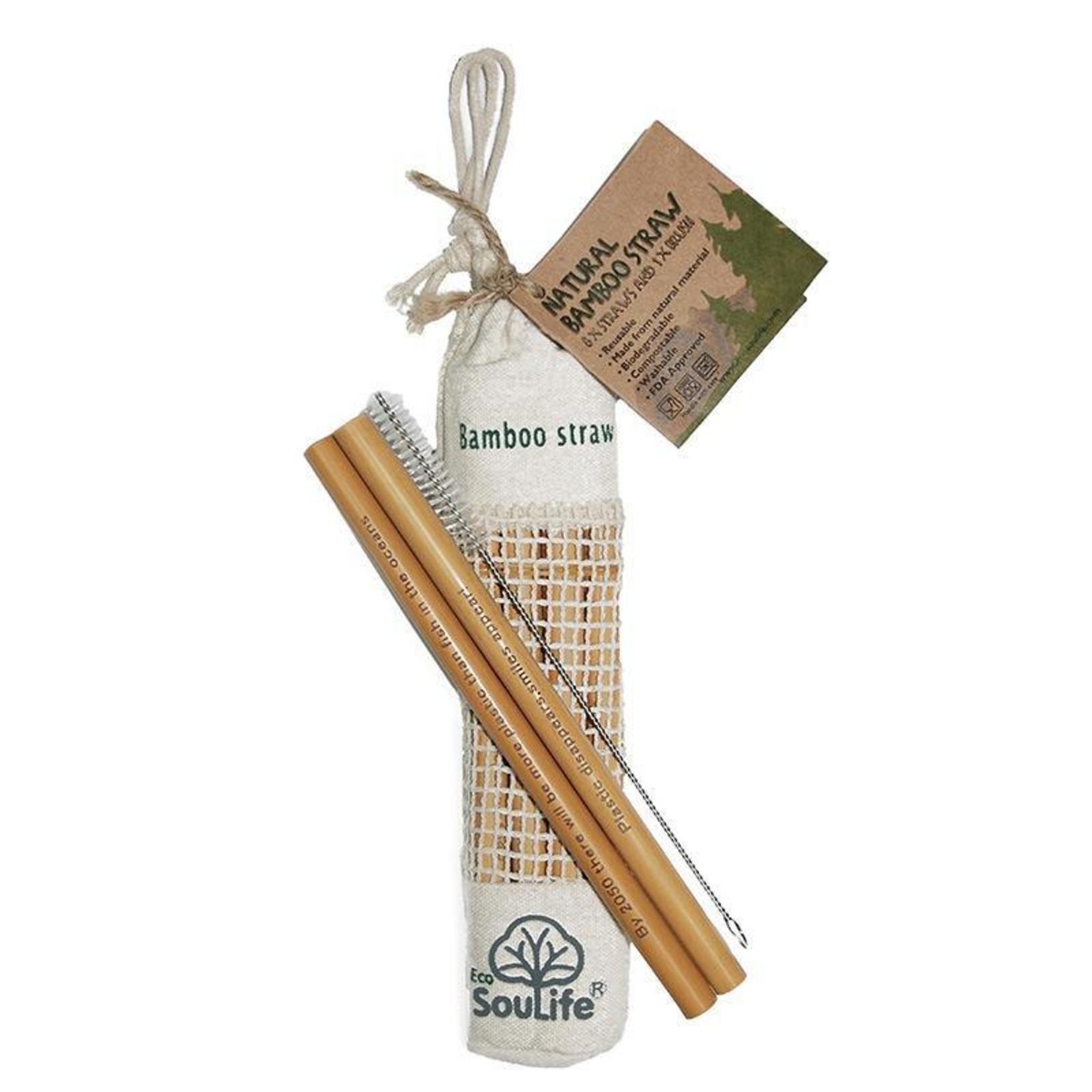 EcoSoulife EcoSoulife Bamboo Straw Set