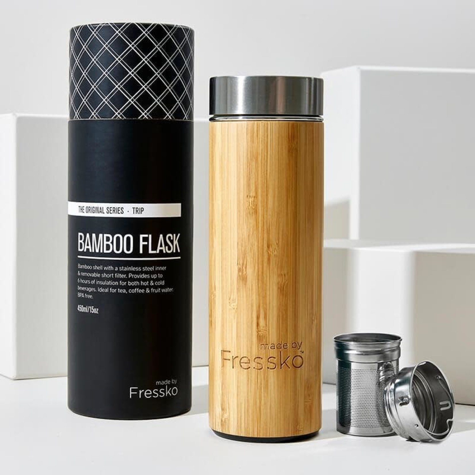 Made By Fressko Made By Fressko Bamboo Flask