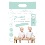 Luvme Pandas by Luvme Bamboo Disposable Nappies Size 5 Extra Large 14pk