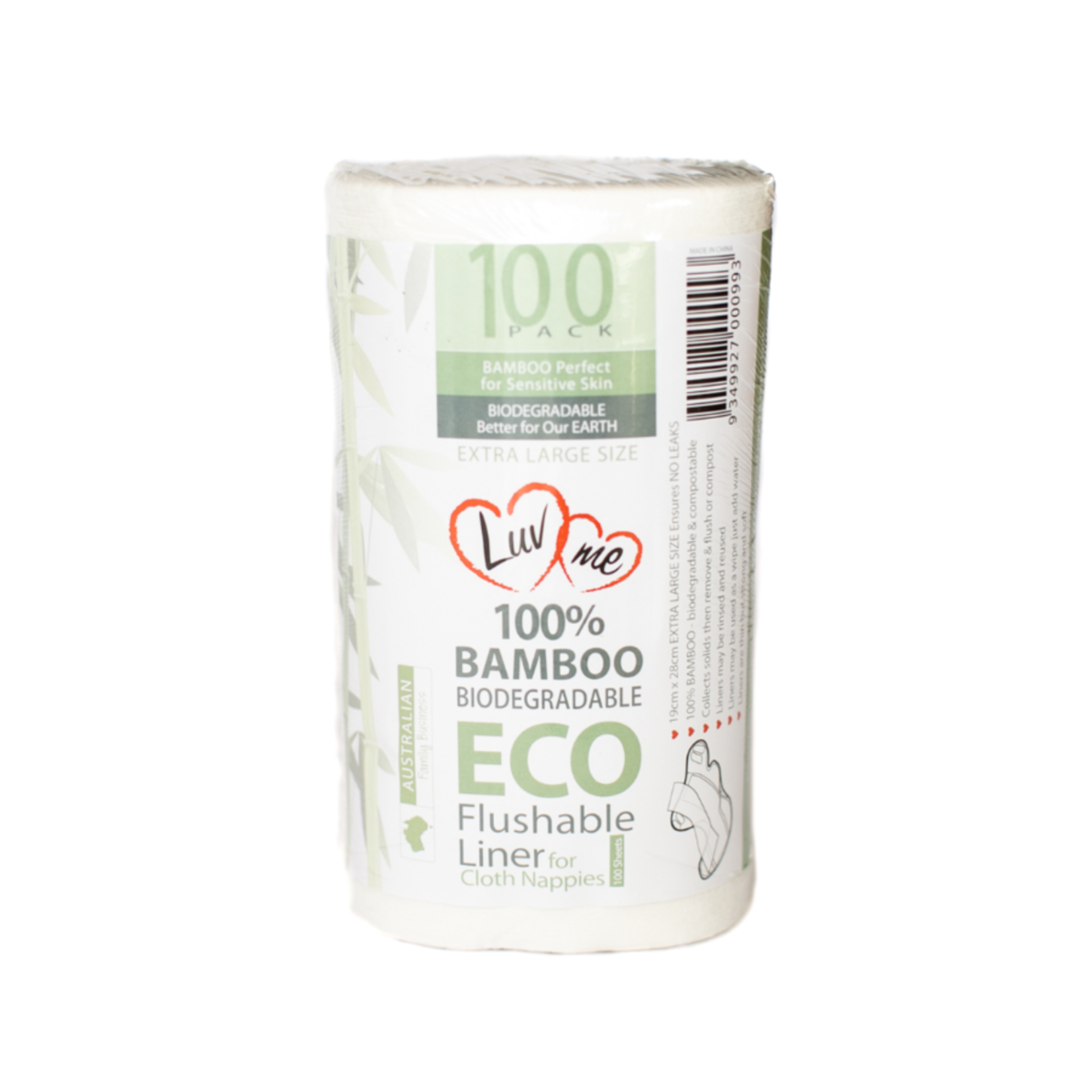 Luvme Luvme Bamboo Flushable Cloth Nappy Liners 100pk