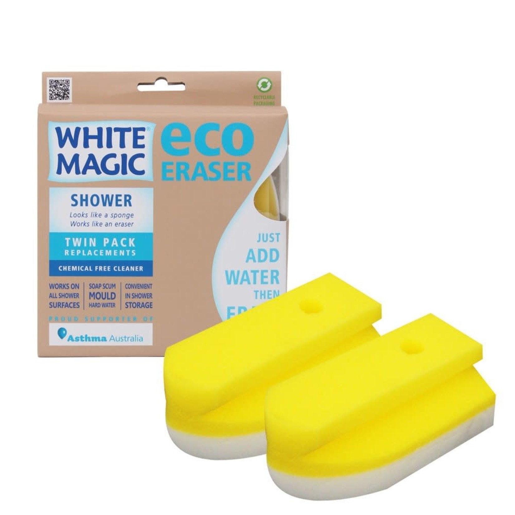White Magic White Magic Eco Eraser Sponge - Shower Refill 2pk