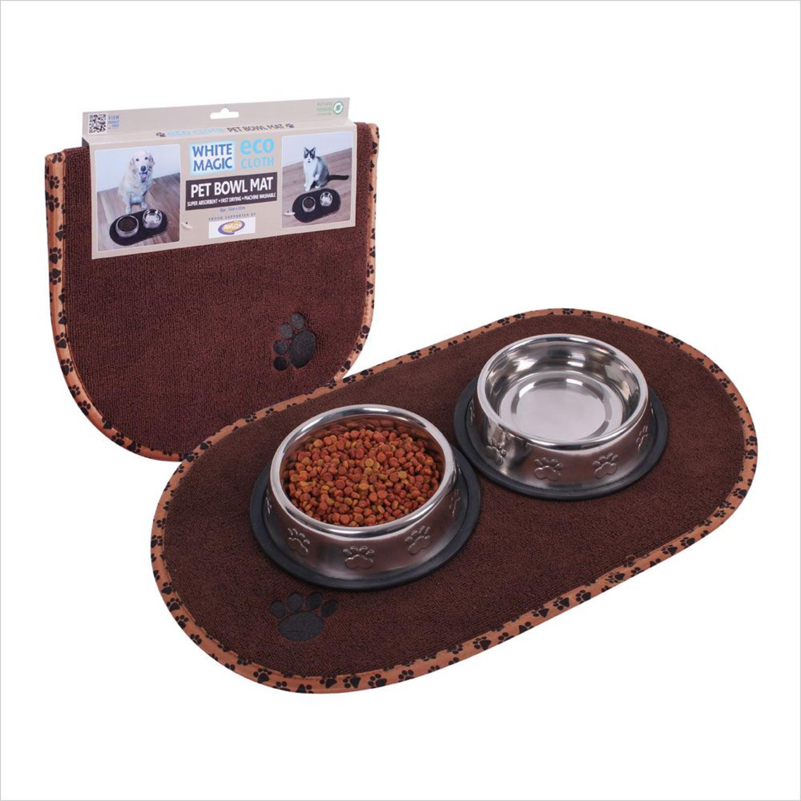 White Magic Eco Cloth Pet Bowl Mat
