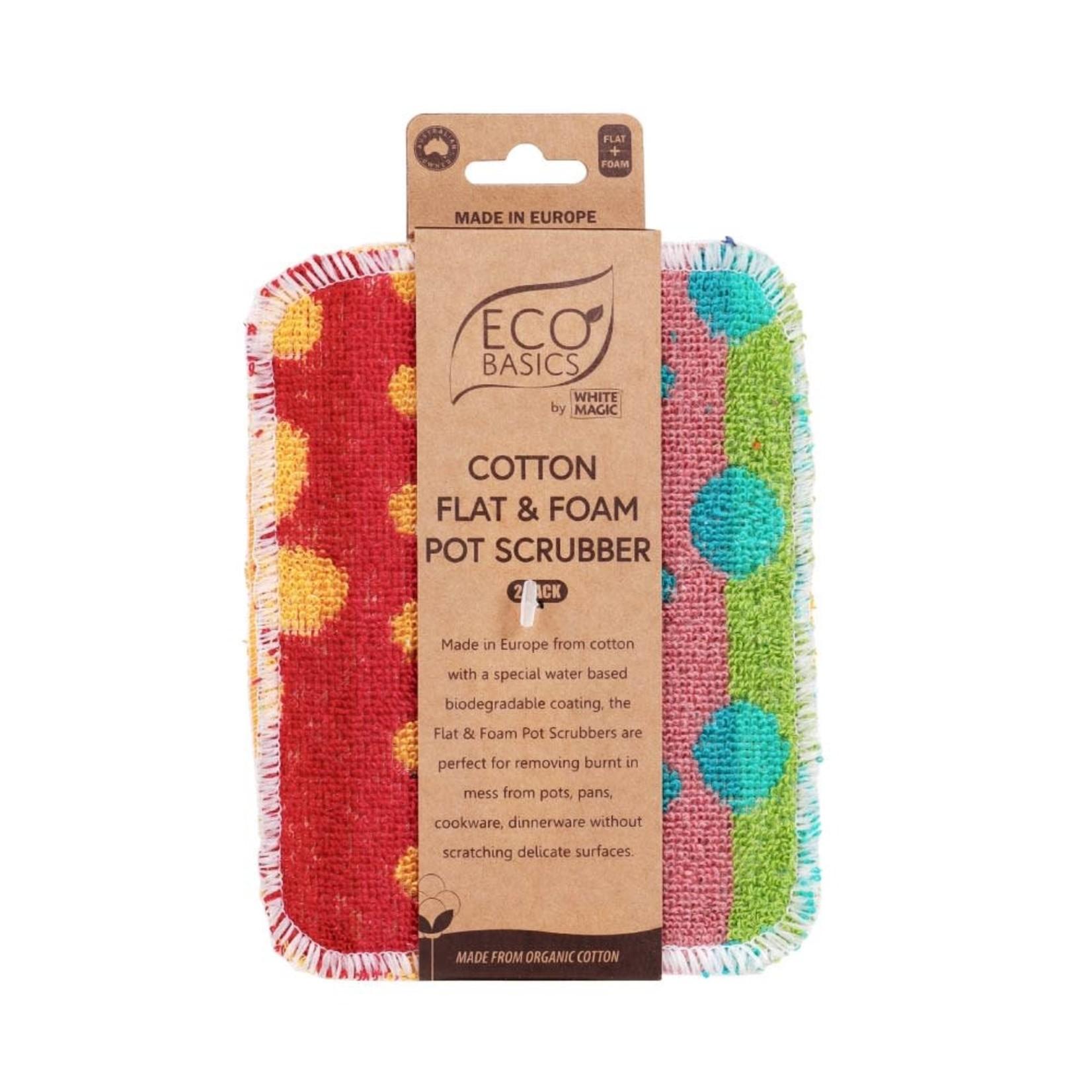Eco Basics Eco Basics Flat & Foam Pot Scrubber 2pk