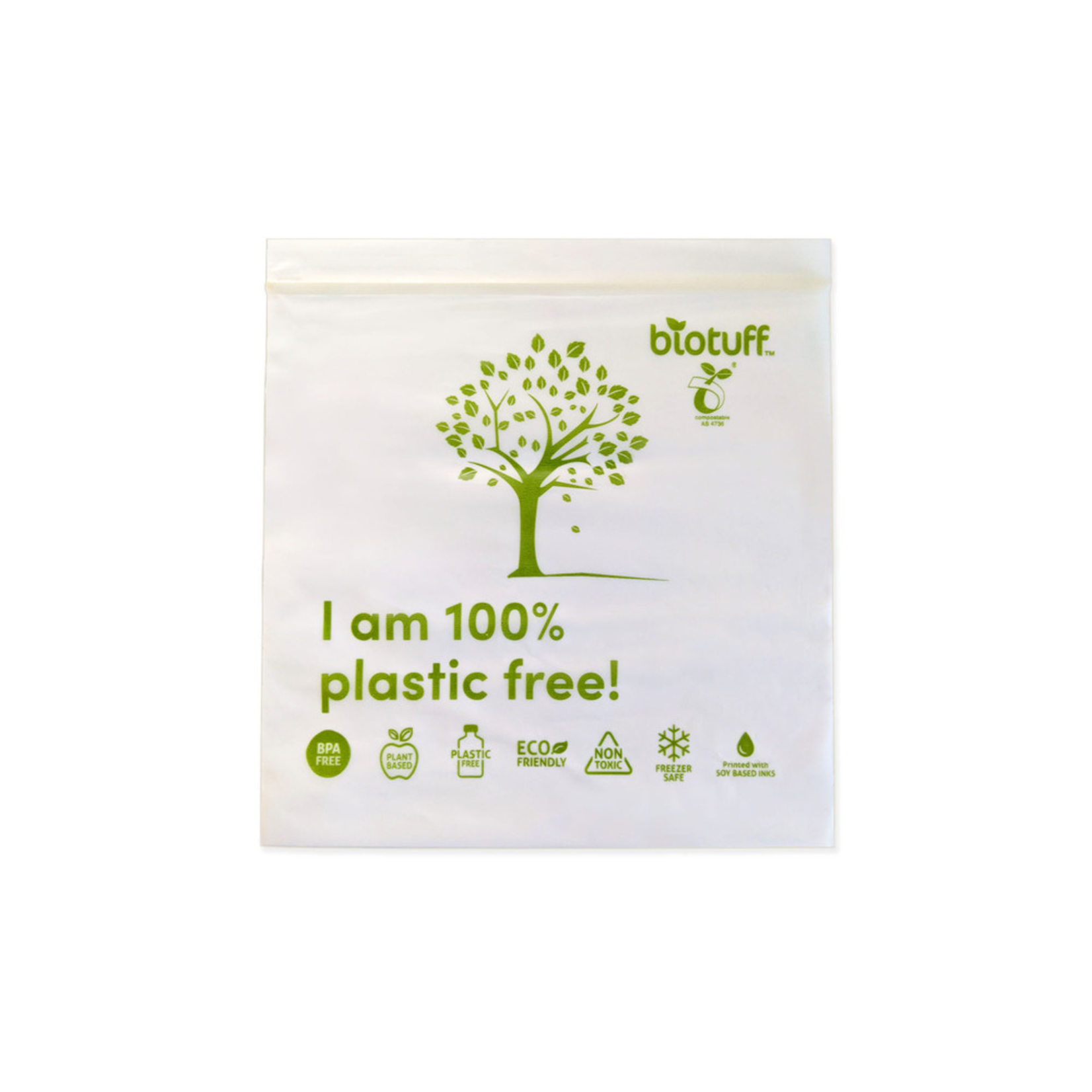 BioTuff Biotuff Compostable Resealable Sandwich Bags