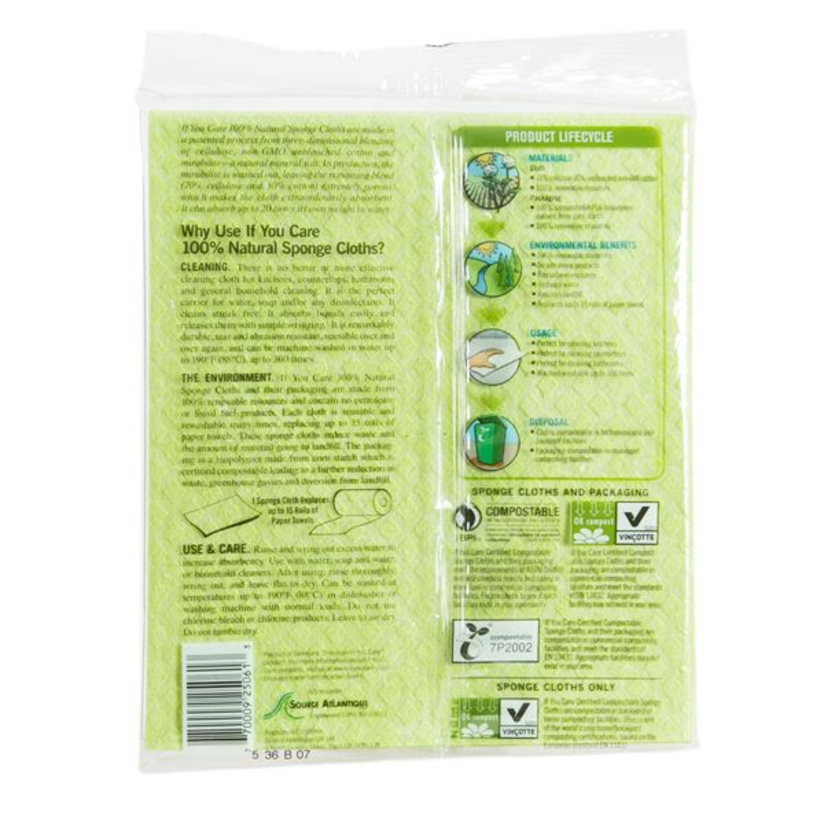If You Care If You Care Sponge Cloths 5pk