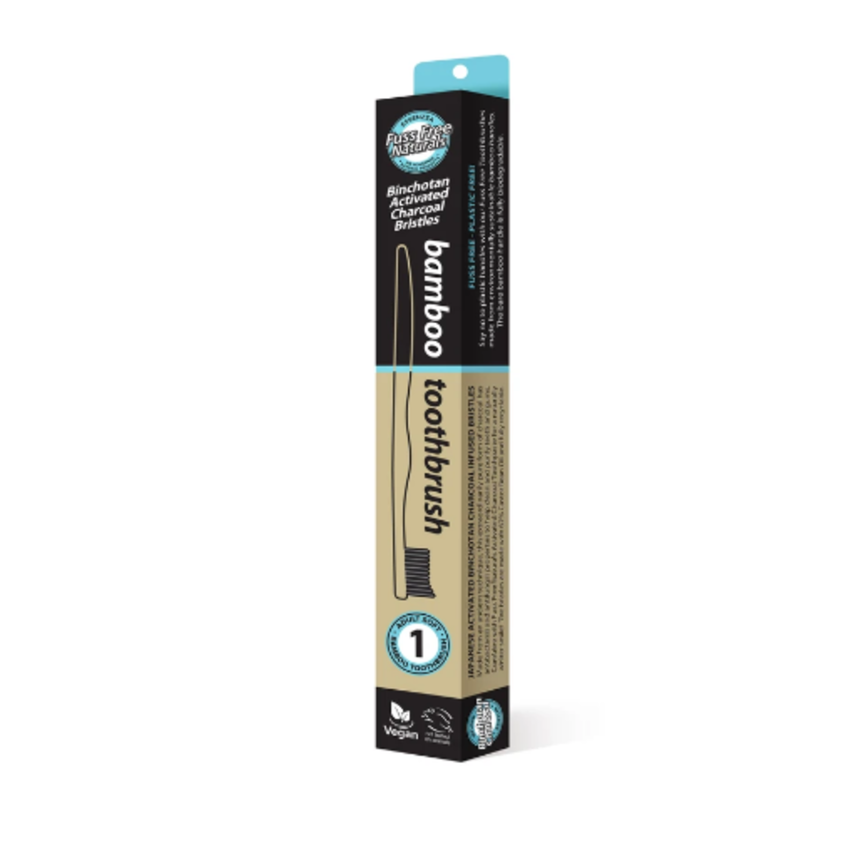Fuss Free Naturals Fuss Free Naturals Bamboo ToothBrush Medium 4PK