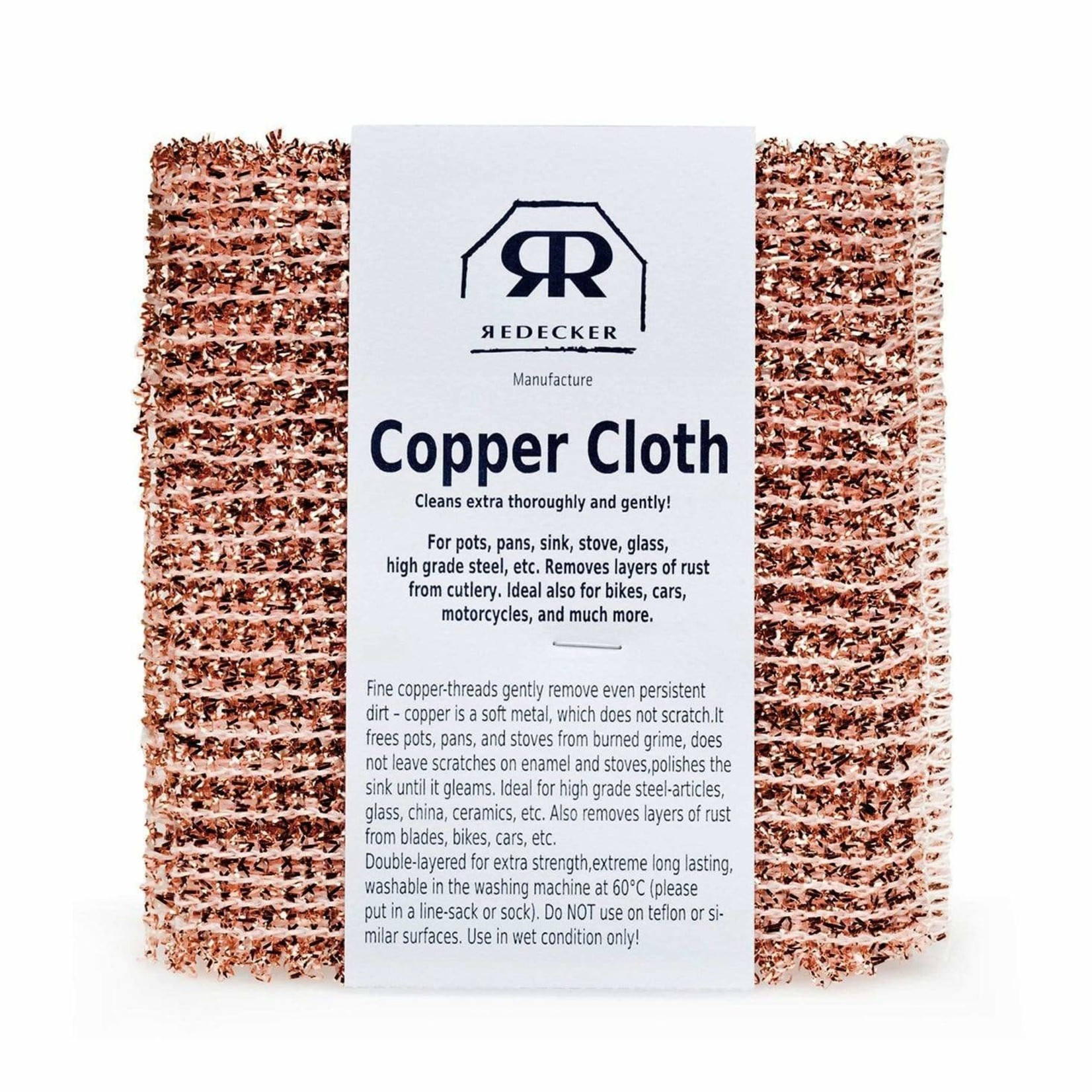 Redecker Redecker Copper Cloth 2pk