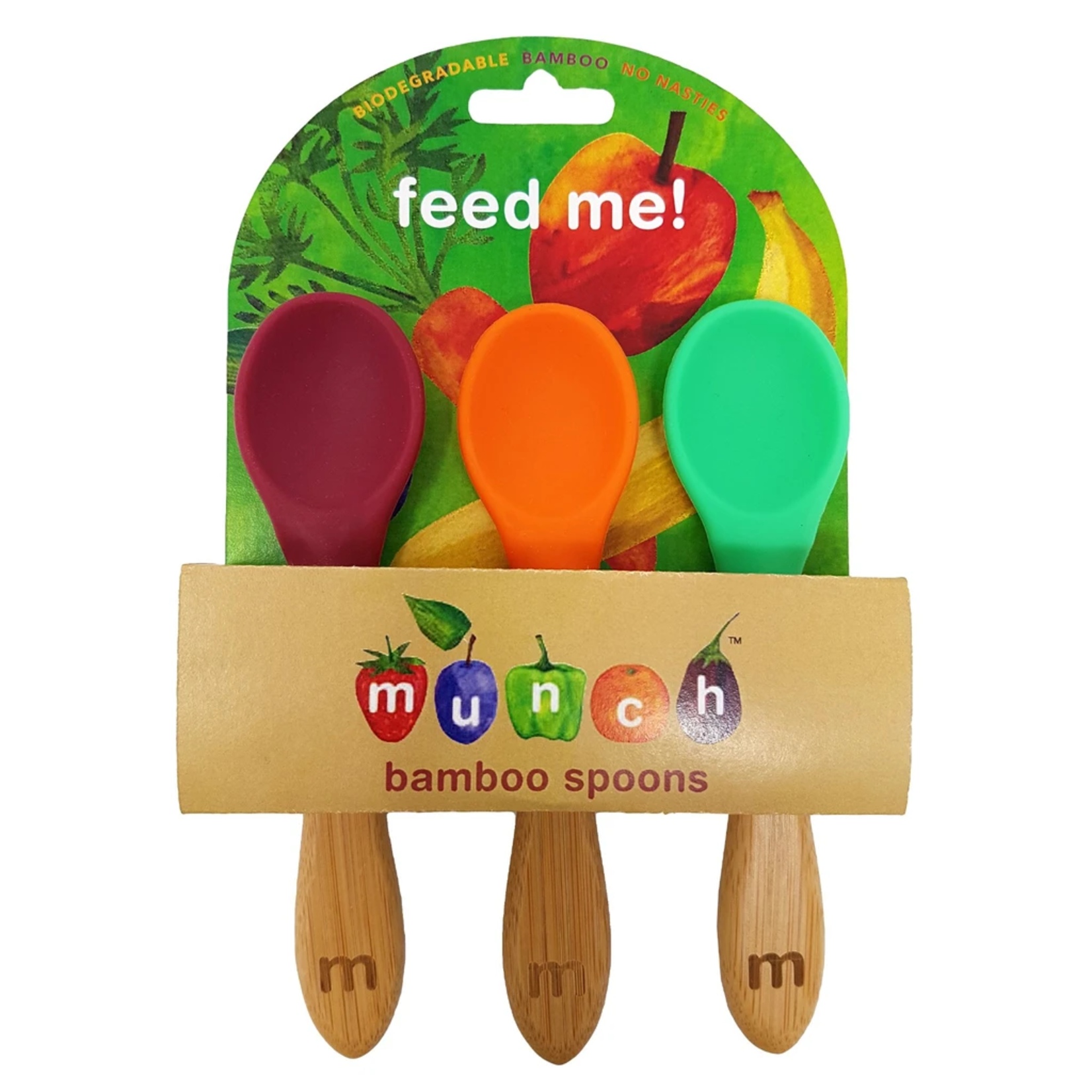 Munch Munch Bamboo Spoons