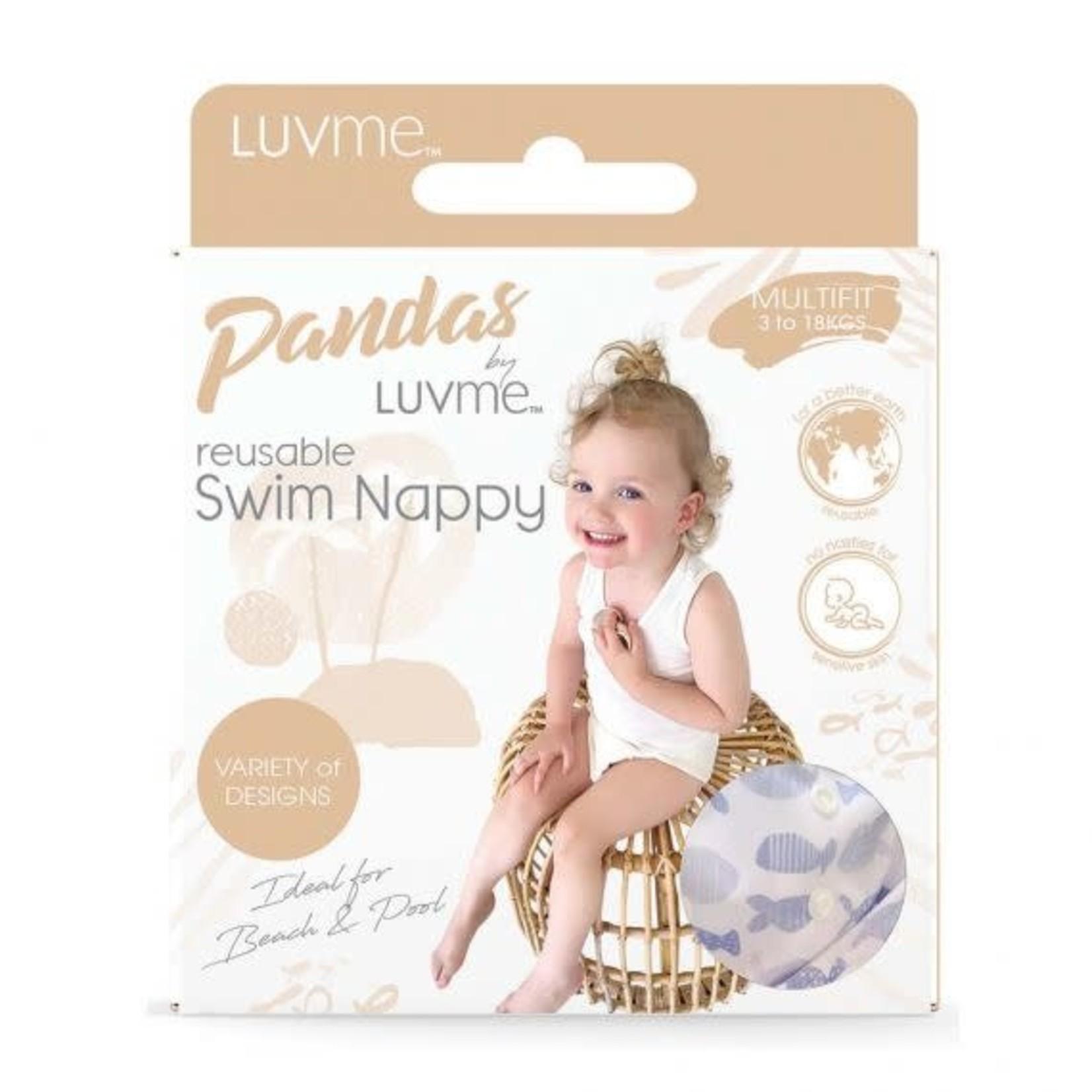 Luvme Pandas by Luvme Reusable Swim Nappy (new designs)