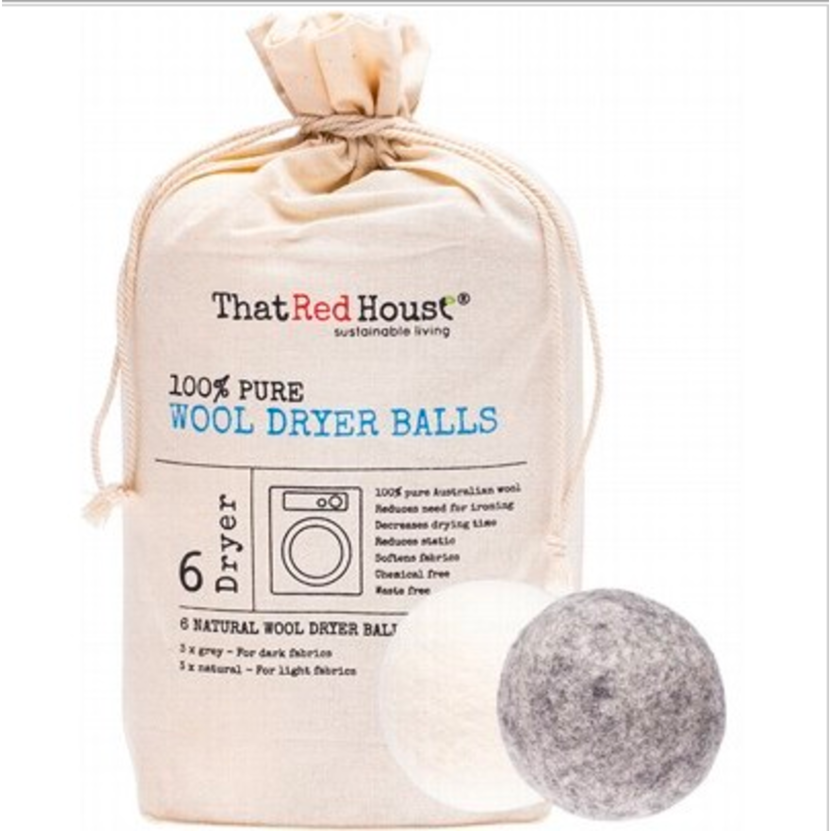 That Red House That Red House Wool Drying Balls