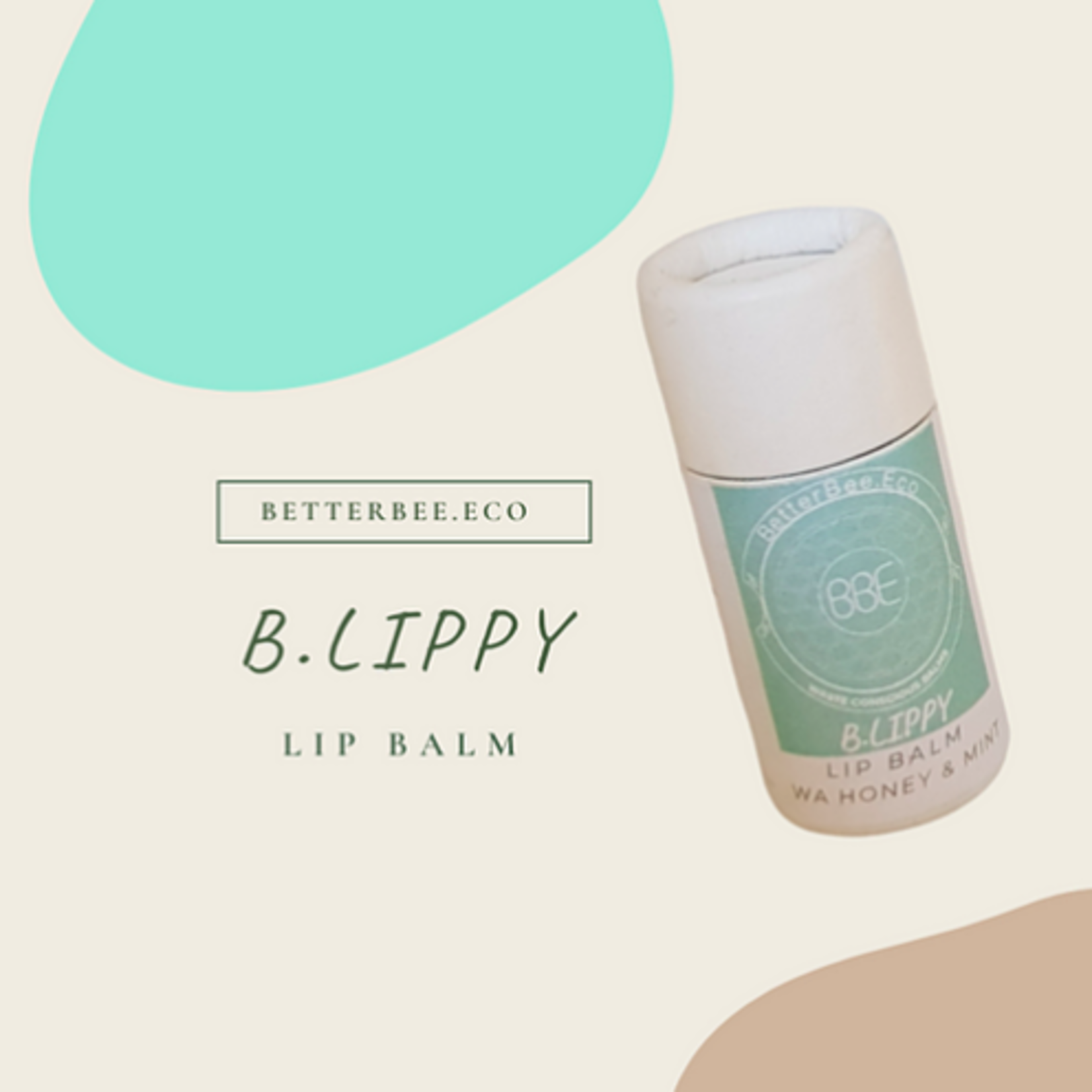 Better Bee Eco Better Bee Eco B.Lippy Lip Balm WA Honey & Mint