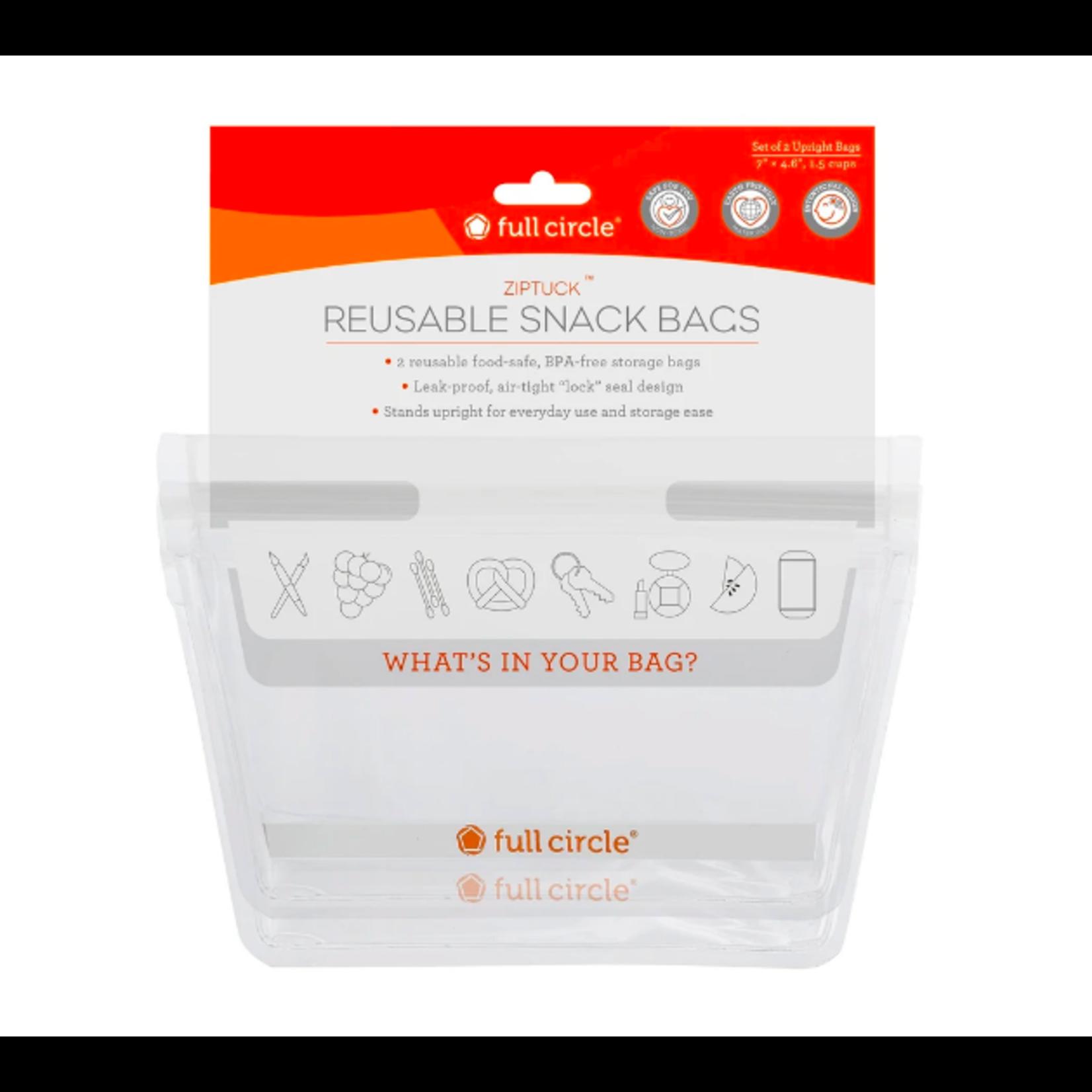 Full Circle Full Circle Ziptuck Reusable Snack Bag 2 Pack