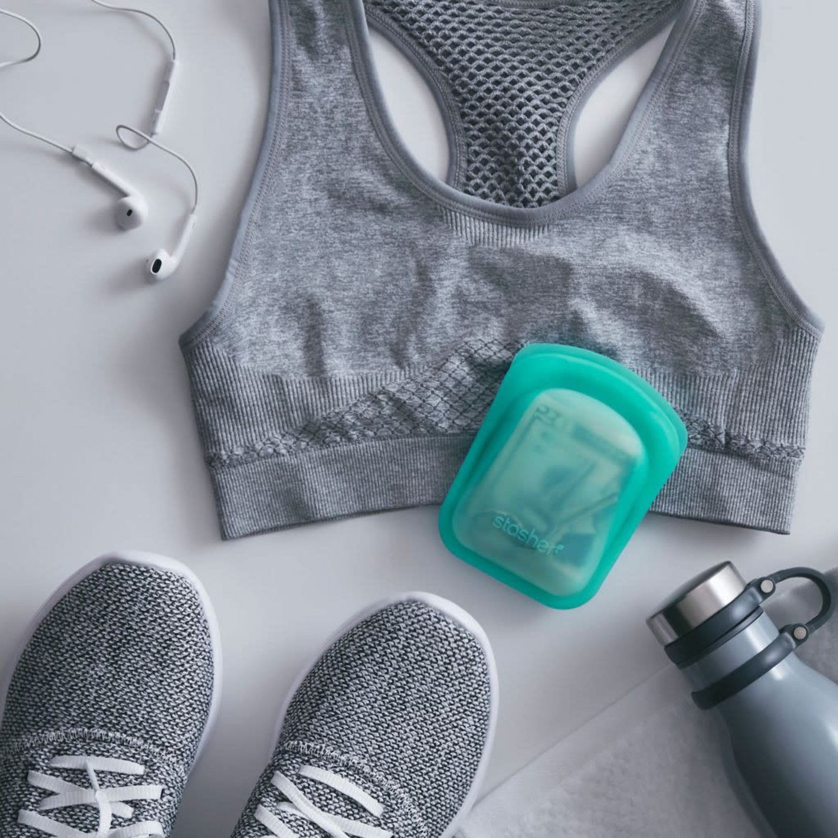 Stasher bag Stasher Bag Pocket Set Clear/Aqua