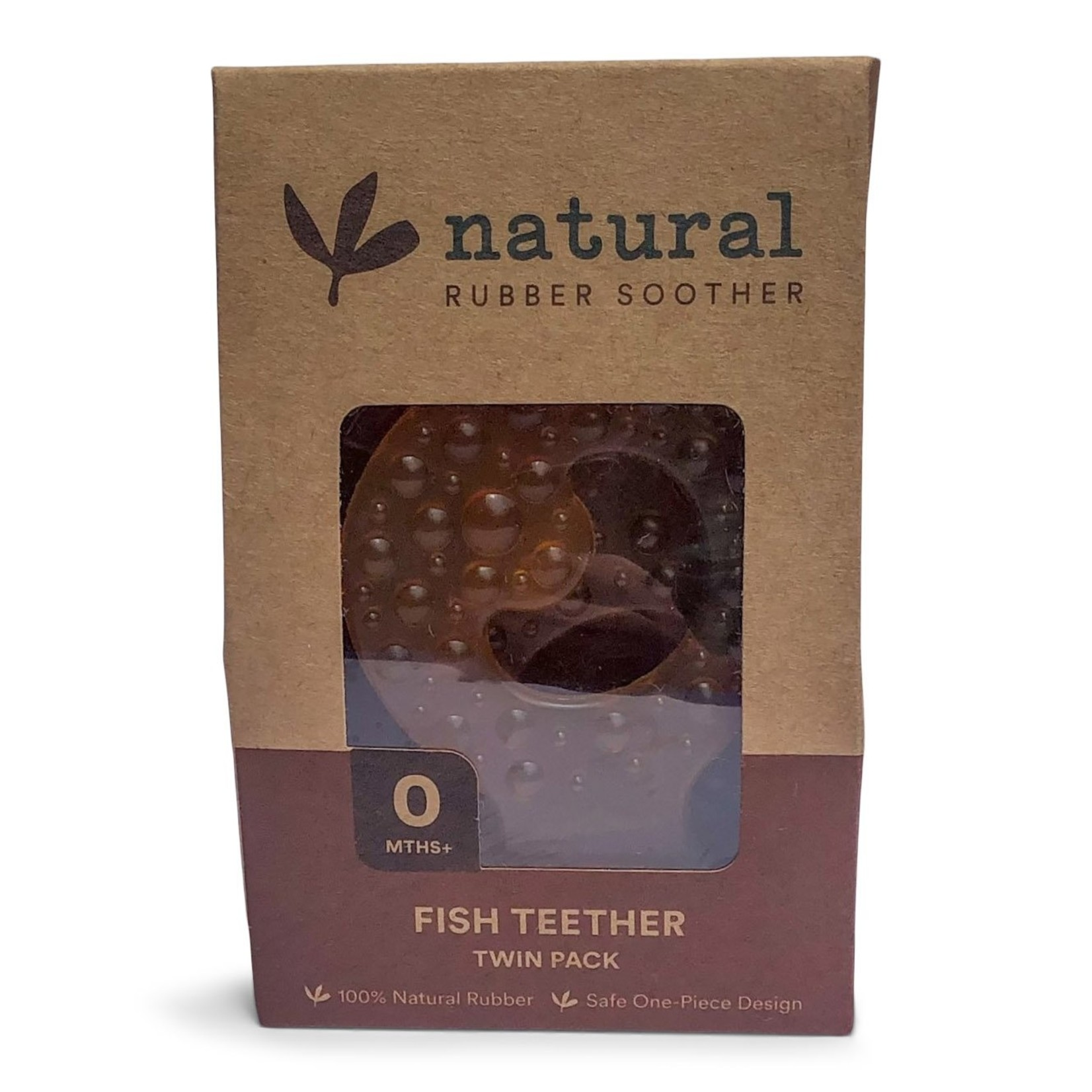 Natural Rubber Soother Natural Rubber Soother Fish Teether Twin Pack