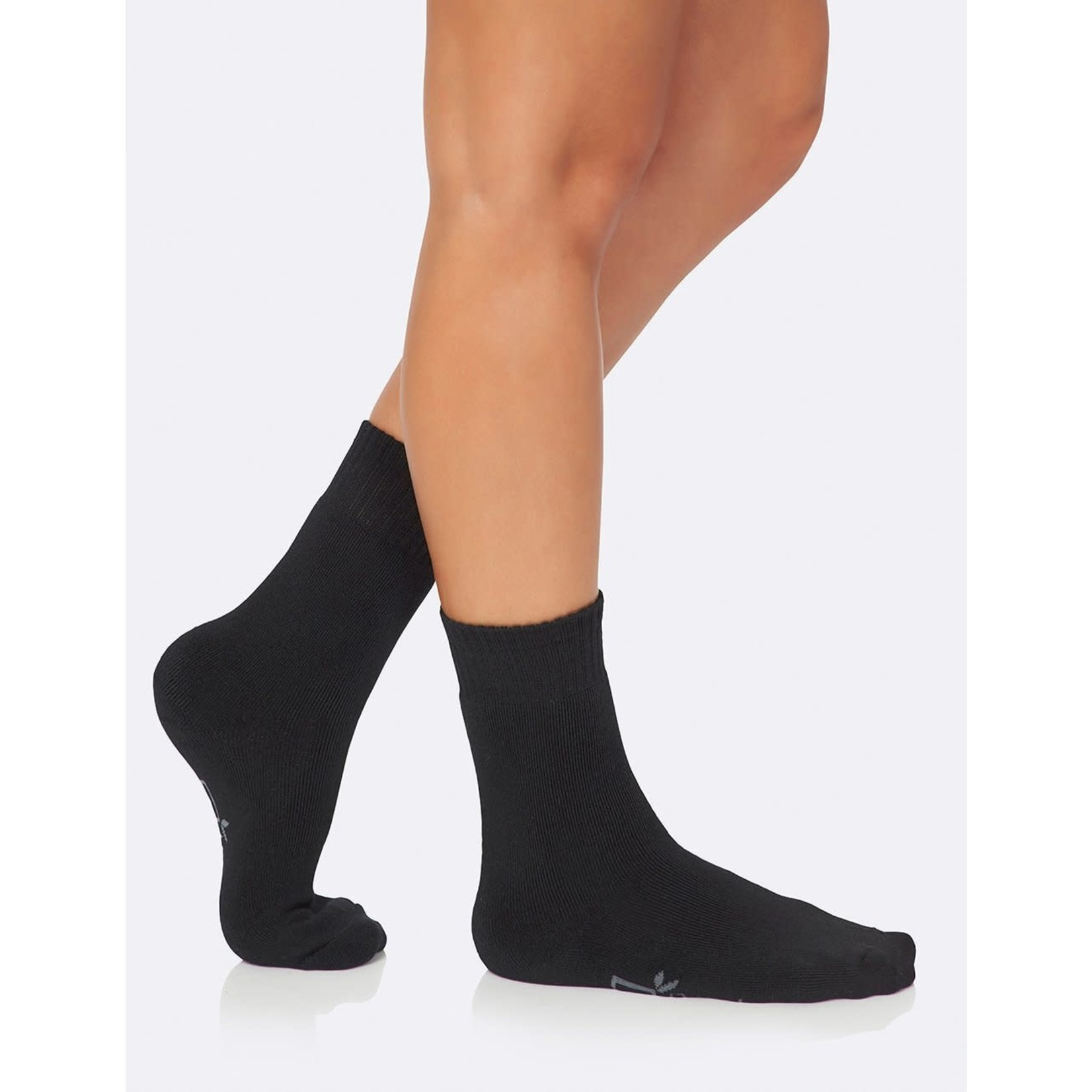 Boody Boody Women's Crew Boot Socks Black